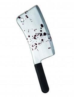Blutiges Fleischerbeil Halloween-Waffe grau-schwarz 45cm