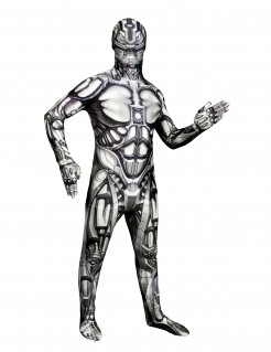 Kinder Morphsuit Android Halloween Robot schwarz-weiss
