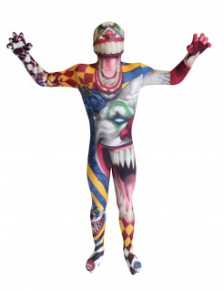 Horror Clown Kinder Morphsuit Halloween bunt
