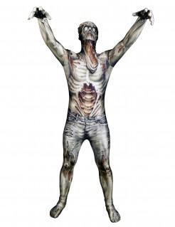 Zombie Morphsuit Halloween grau-beige