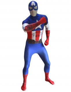 Marvel Captain America Digital Morphsuit Lizenzware blau-weiss-rot