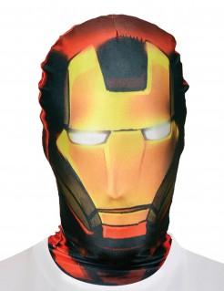 Iron Man™-Lizenzmaske Morphsuits™-Maske rot-gelb