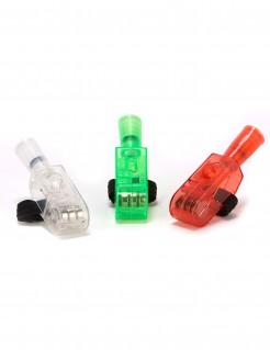LED-Projektoren für die Finger Halloween Party-Accessoire 3 Stück transparent-grün-rot 5,5cm