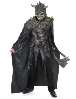Skelettkrieger-Kostüm Untoter Krieger grau-schwarz