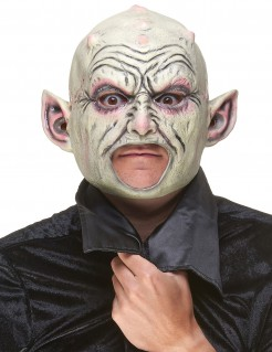 Gnom Latex-Maske beige-grün