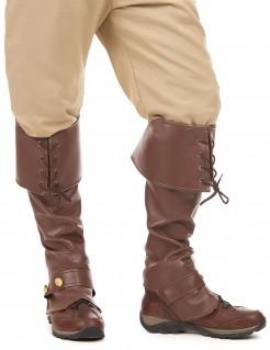 Mittelalter-Stiefel Überschuhe braun