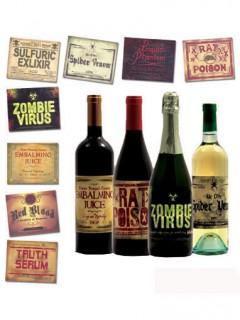 Flaschenaufkleber Halloween Etiketten 8 Stück Bunt 12,5x10,2cm
