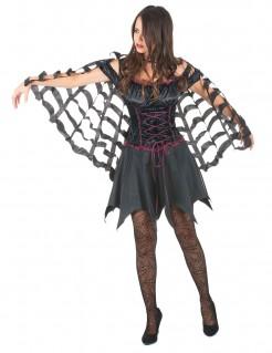 Spinnen-Umhang für Halloween Kostüm-Accessoire schwarz