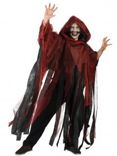 Rot-schwarzer Umhang für Erwachsene rot