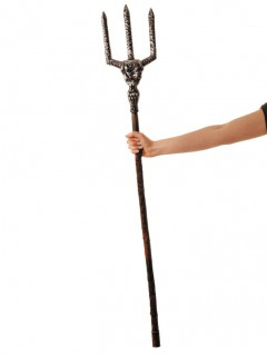 Hochwertiger Teufelsdreizack 122 cm braun