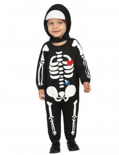 Skelett Kleinkinder-Kostüm schwarz-weiss