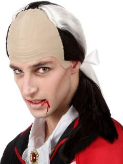 Vampir-Perücke mit hoher Stirn für Herren beige-schwarz-weiss