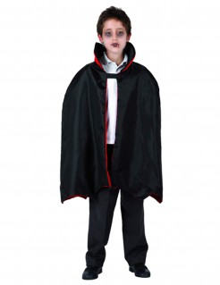 Vampir-Umhang für Kinder Halloween Kostümzubehör schwarz-rot66 cm lang