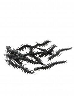 Tausendfüßer Halloween-Deko 12 Stück schwarz 13,5cm