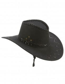Cowboyhut für Erwachsene Bandit schwarz