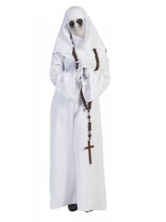 Nonnen-Kostüm gruselig Halloween weiss