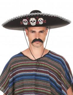 Dia de los Muertos Sombrero schwarz-bunt