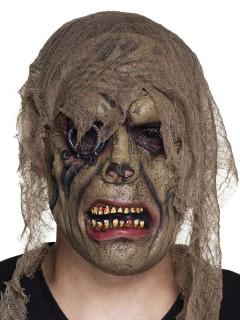 Piraten Zombie Maske für Erwachsene braun-grün