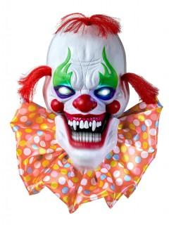 Halloween-Dekoration Gruseliger Clown mit Licht- und Soundeffekten 58 cm