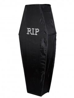 Sarg Halloween-Deko RIP schwarz-weiss 150cm