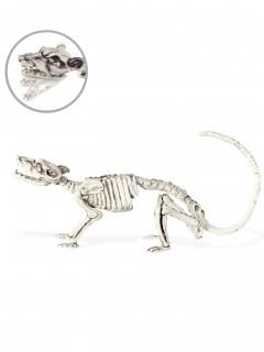Halloween-Dekoration Rattenskelett weiss 16 x 23 cm