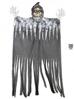 Gruseliger Sensenmann Mega-Halloween-Deko Skelett bunt 300cm