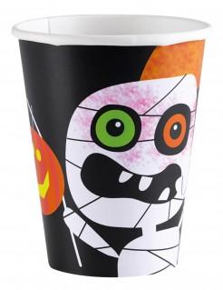Halloween Pappbecher Grusel-Deko für Kinder 8 Stück bunt 266ml
