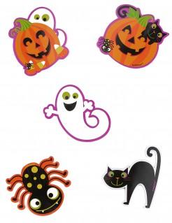 Halloween-Tisch-Deko kleine Spukmonster 10 Stück bunt 9cm