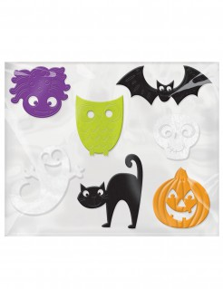Fensterdekorationen Halloween Deko für Kinder 7 Stück bunt 5 bis 13cm
