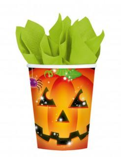 Kürbis Becher Halloween Becher Set 8 Stück bunt 266ml