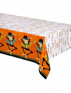 Tag der Toten Halloween-Tischdecke orange-bunt