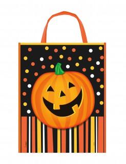 Halloween-Henkeltasche für Süssigkeiten schwarz-bunt