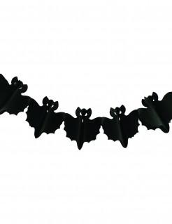 Fledermaus-Girlande Halloween-Partydeko schwarz 3m