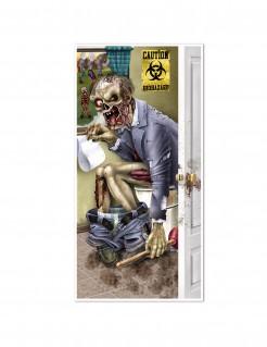 Badezimmertür-Poster Zombie auf Toilette Halloweendeko bun 76x152cm