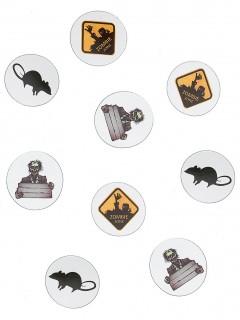 Halloween-Tischkonfetti Zombies und Ratten bunt 9g