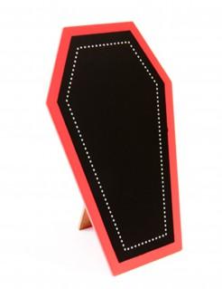Sarg-Menükarte Halloween-Tischdeko schwarz-weiss-beige 19 x 12cm