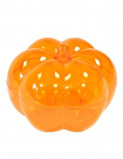 Kürbis-Bonbonschale mit Deckel Halloween-Tischdeko transparent-orange 5 x