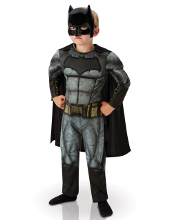 Batman™-Kinderkostüm Dawn of Justice™-Lizenzartikel grau-schwarz