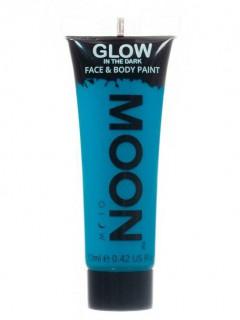Moon Glow - Glow in the Dark UV Gesicht- und Körperfarbe Schminke Makeup Bodypainting nachtleuchtend blau 12ml
