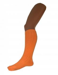 Fluoresziernde Kniestrümpfe für Erwachsene 53cm Orange