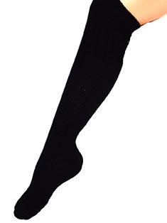 Schwarze Kniestrümpfe 53cm für Erwachsene schwarz