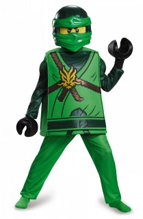 Lloyd-Ninjago™-Kostüm für Kinder Lego™ Halloween grün