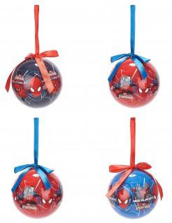 Spider-Man™ Christkugeln 4 Stück bunt 7,5 cm