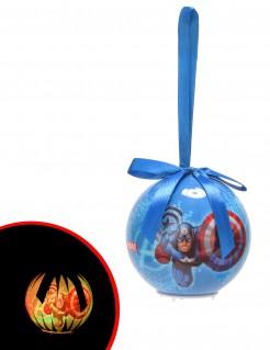 Avengers™-Weihnachtskugel leuchtend bunt 7,5cm