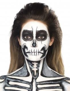 Flüssiglatex Halloween-Schminke mit Schwamm weiss 59ml