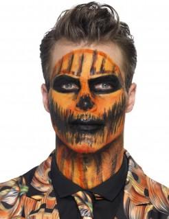 Flüssiglatex Halloween-Schminke mit Schwamm orange 59ml