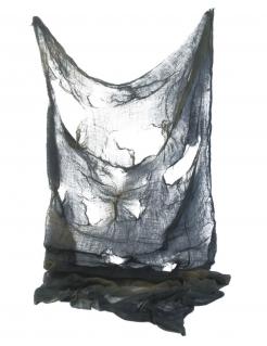 Halloween-Tuch mit Lochmuster schwarz 1,5 x 2,1 m