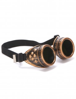 Piloten-Steampunkbrille für Erwachsene braun