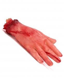 Abgehackte Hand Halloween Deko lebensgross haut-rot 15cm