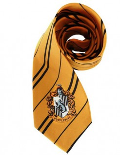 Harry Potter™ Hufflepuff Krawatte Kostüm-Accessoire orange 150cm